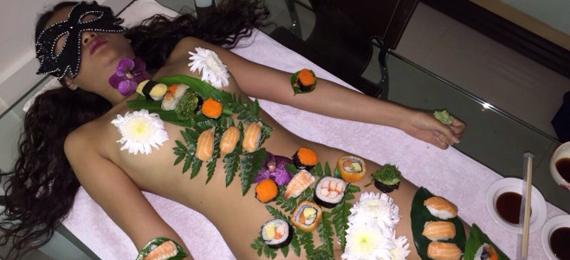 Naked Sushi Thai Girl