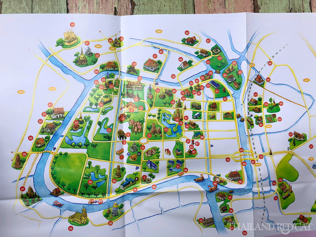 Ayutthaya Tourist Map