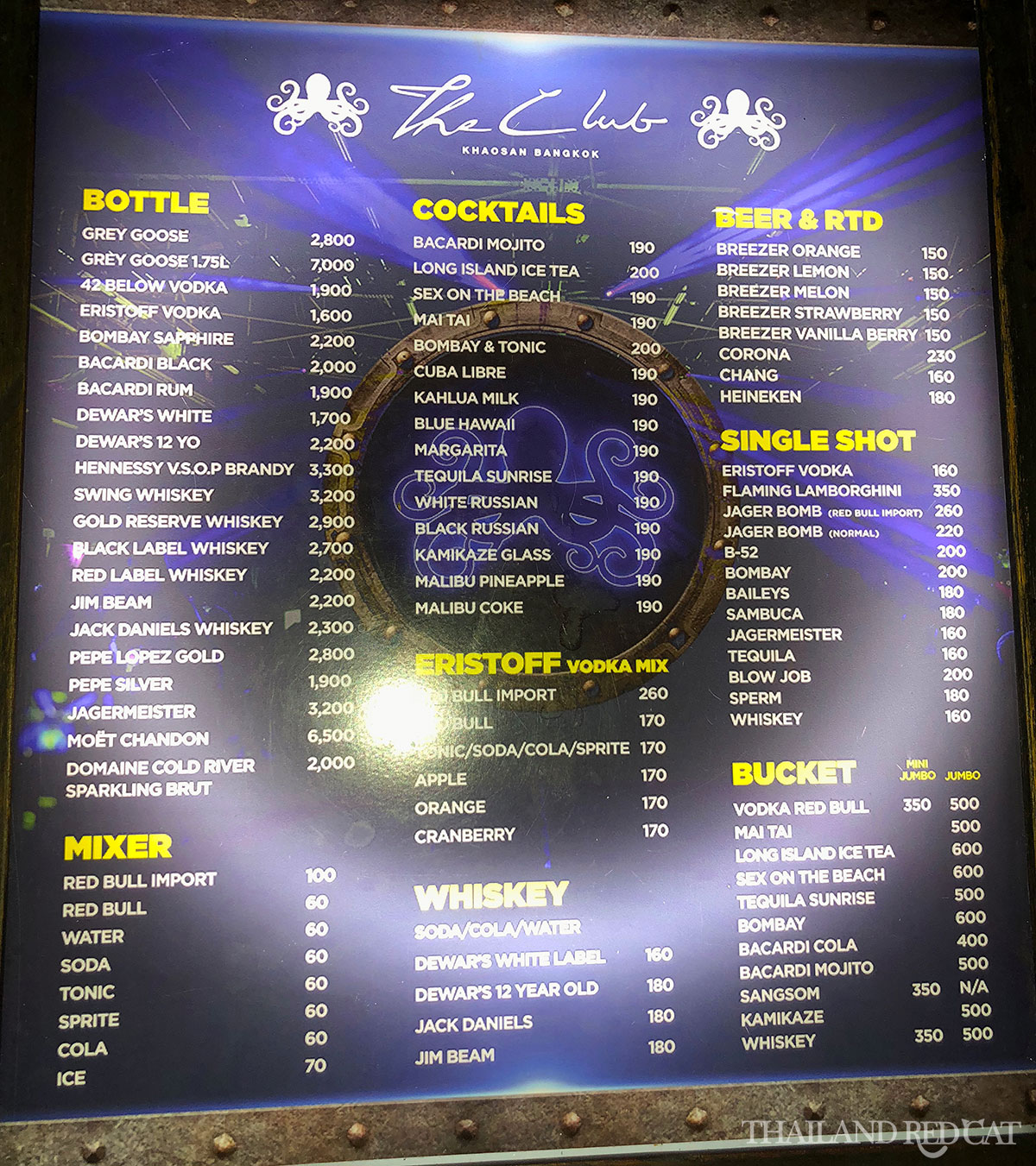 Bangkok Night Club Prices