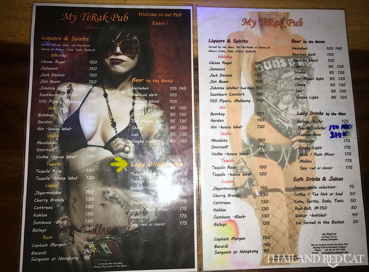 Chiang Mai Girly Bars Prices