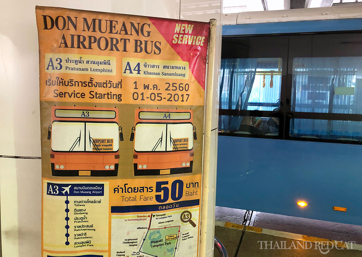 Don Mueang to Khaosan Bus
