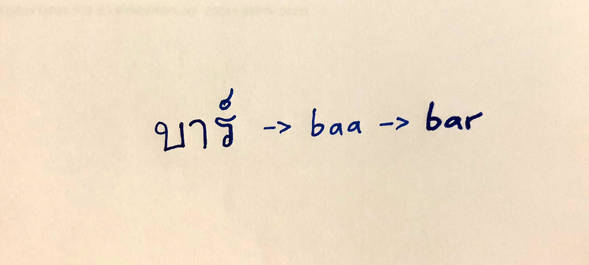 English Word in Thai