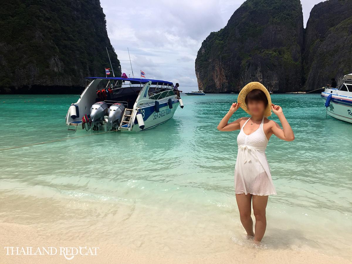 Girl on Maya Bay