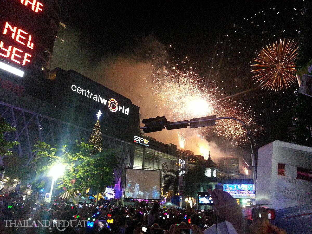 New Year's Eve Fireworks in Bangkok