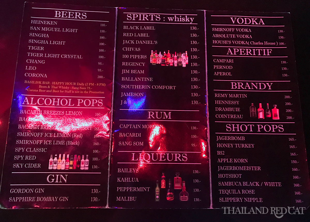 Pattaya Girly Bar Prices