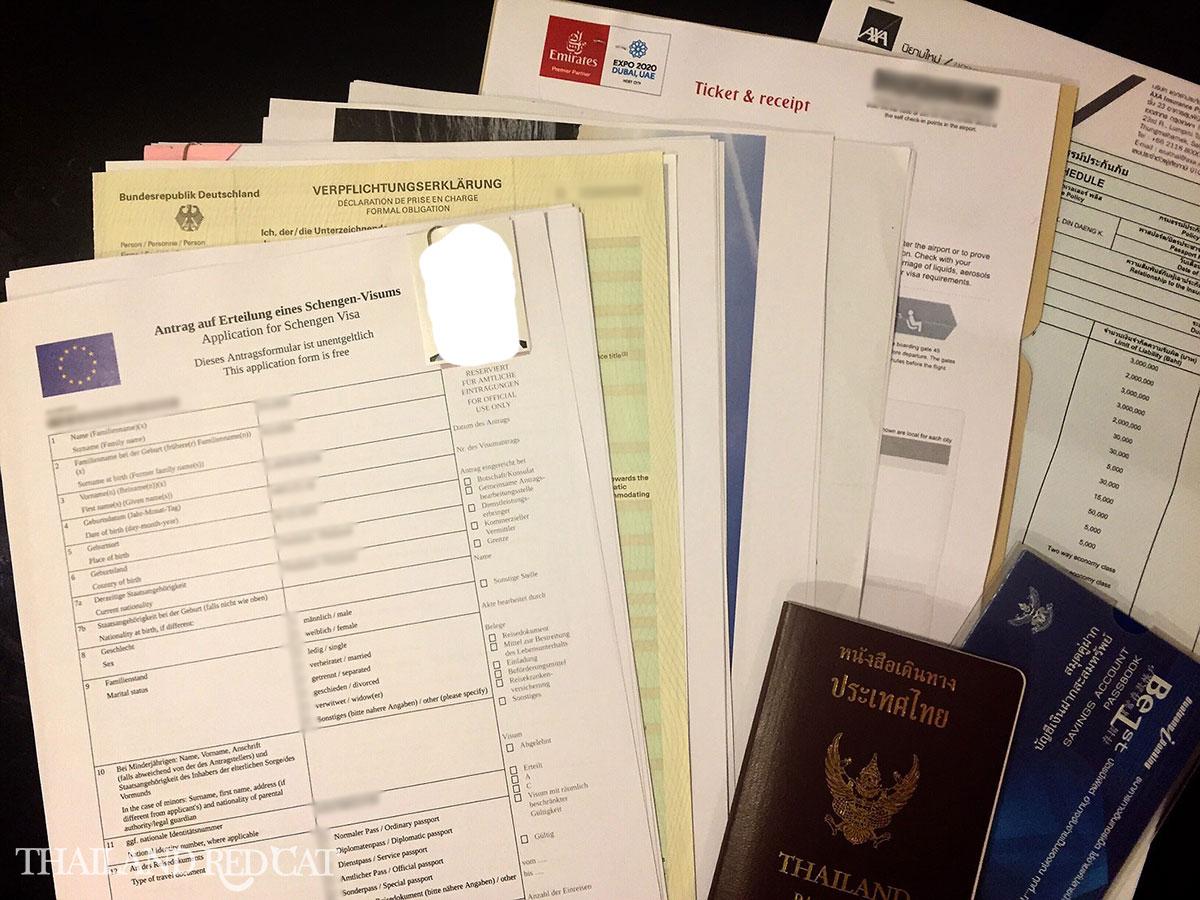 Schengen Visa Thai Girlfriend Documents