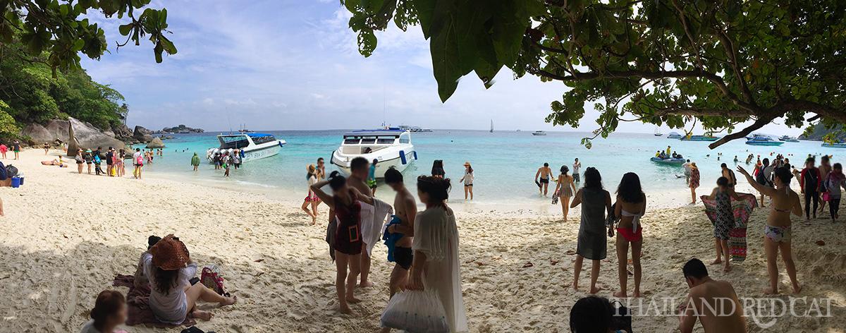 Similan Islands Crowded Beach