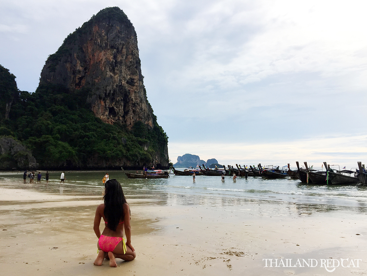 Thai Girl on Railay Beach