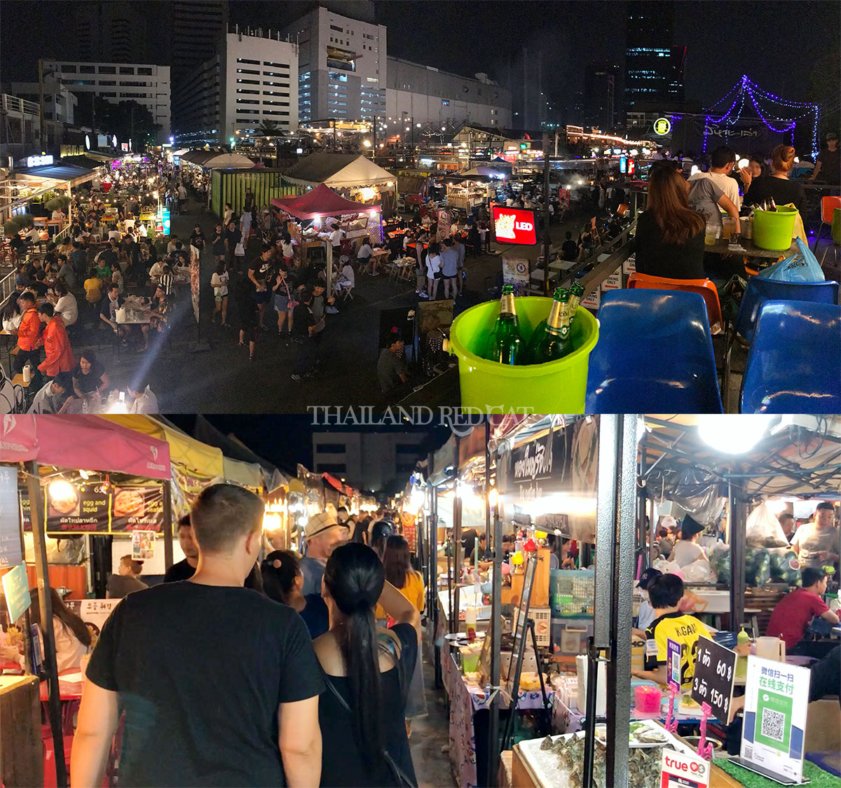 Train Night Market Bangkok