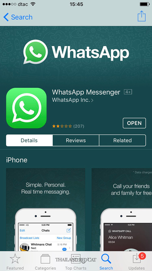 WhatsApp in Thailand